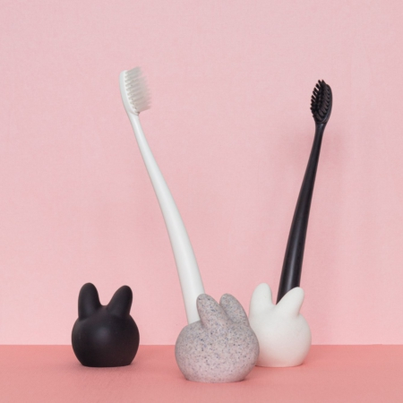Rabbit Sandstone Toothbrush Holder
